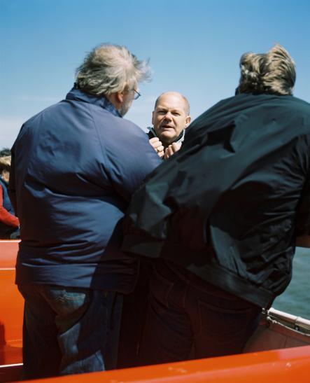 Olaf Scholz, Erster Bürgermeister von Hamburg, Überfahrt mit der MS Flipper nach Neuwerk