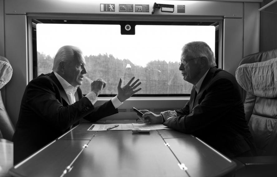 Deutsche Bahn Rüdiger Grube und  Wolfgang Kaden