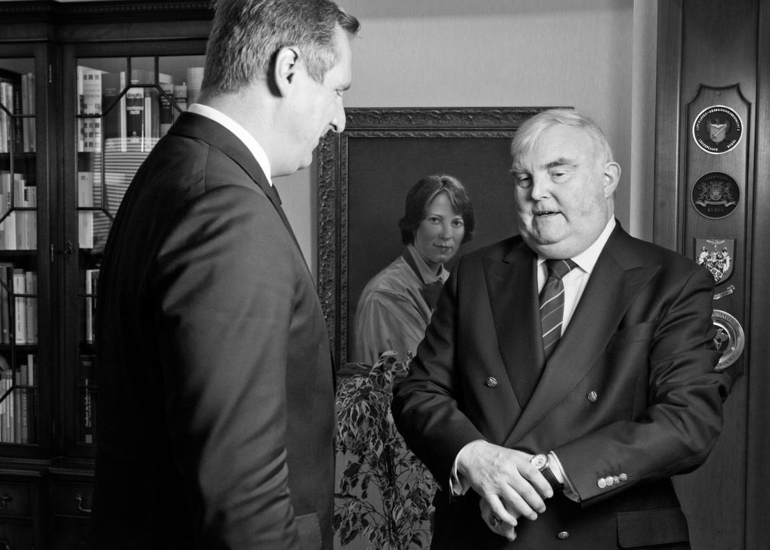 Kölln Flocken, Elmshorn, Dr. Christian von Boetticher, neuer Geschäftsführer, Prof. Dr. Hans Heinrich Driftmann, ehemaliger Geschäftsführer, nun Aufsichtsrat